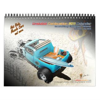 2011 Unstable Combustion Hot Rod Calendar