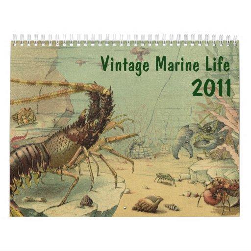 2011 Vintage Marine Life Calendar