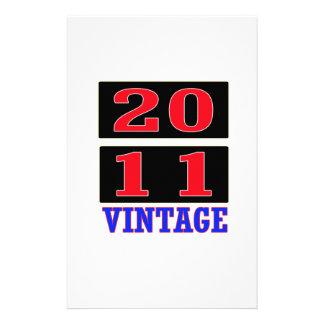 2011 Vintage Stationery Design