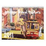 2011 Vintage Travel Posters Calendars