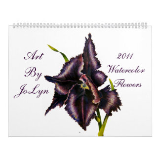 2011 Watercolor  Flowers  Calendar
