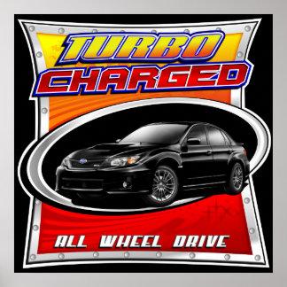 2011 WRX Black Turbocharged Poster