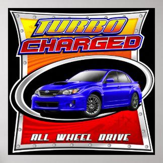 2011 WRX Blue Turbocharged Poster