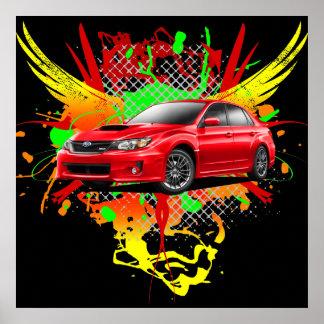 2011 WRX Impreza Red Graphic Poster
