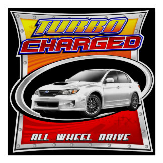 2011 WRX White Turbocharged Poster