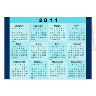 2011 Year at a Glance Calendar Card
