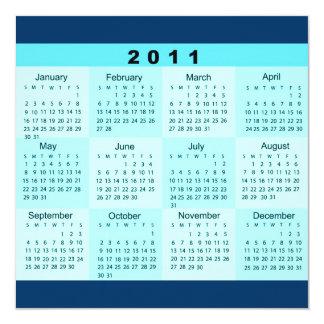 2011 Year at a Glance Calendar Invitation