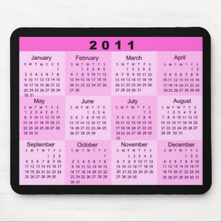 2011 Year at a Glance Calendar Mouse Pad