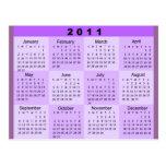 2011 Year at a Glance Calendar Post Card