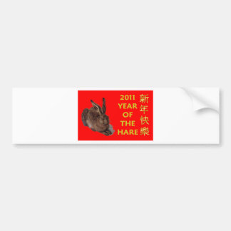 2011 Year Of The Hare (Chinese Characters) Bumper Sticker