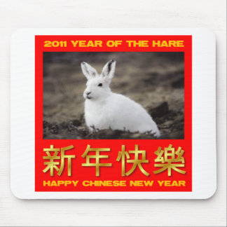 2011 Year Of The Hare Happy Chinese New Year Mouse Pad