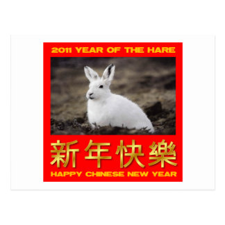 2011 Year Of The Hare Happy Chinese New Year Postcard