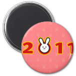 2011: Year of the Rabbit 2 Inch Round Magnet