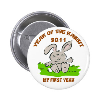 2011 Year of The Rabbit Baby Button