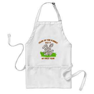 2011 Year of The Rabbit Baby Gift Adult Apron