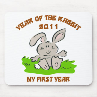 2011 Year of The Rabbit Baby Gift Mouse Pad