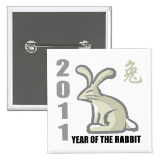 2011 Year of The Rabbit Button