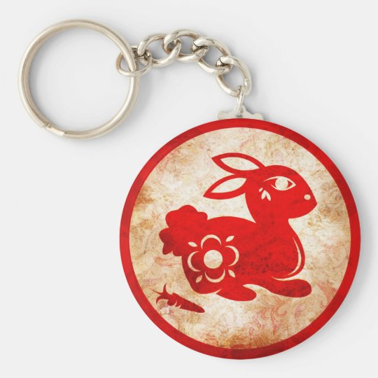 2011 Year of the Rabbit Chinese Astrology Design Keychain
