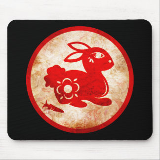 2011 Year of the Rabbit Chinese Astrology Design Mouse Pad