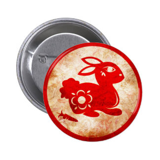 2011 Year of the Rabbit Chinese Astrology Design Pinback Button