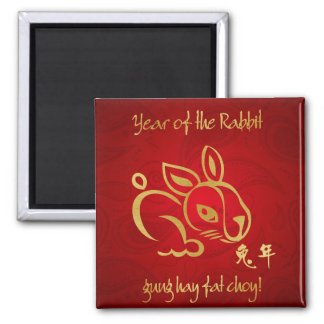 2011 Year of the Rabbit Chinese New Year Refrigerator Magnets