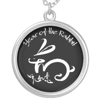 2011 Year of the Rabbit Chinese New Year necklace