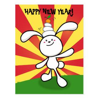 2011: Year of the Rabbit: Mochi Balance! Postcard