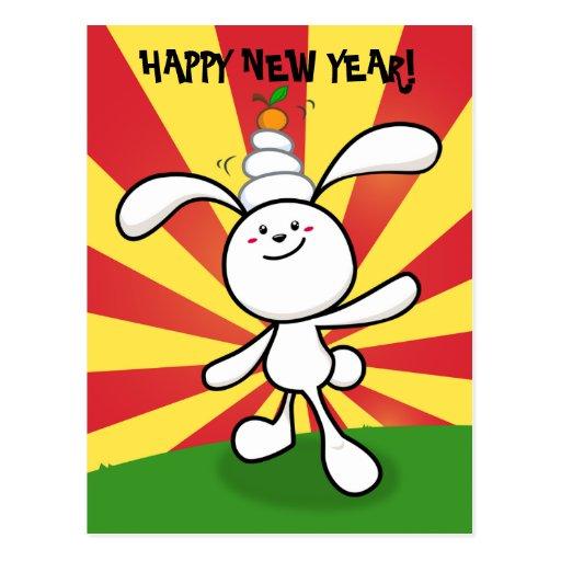 2011: Year of the Rabbit: Mochi Balance! Post Cards