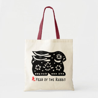 2011 Year of The Rabbit Paper Cut Gift Tote Bag