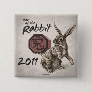 2011: Year of the Rabbit Square Button