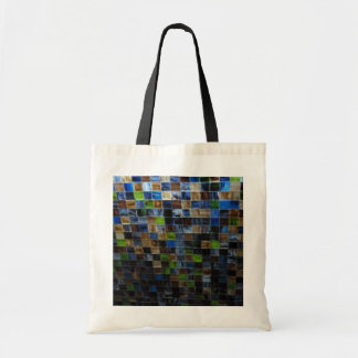 2012-09-09 19.51.12 BLUE GREEN MOSAIC GLASS SQUARE CANVAS BAGS