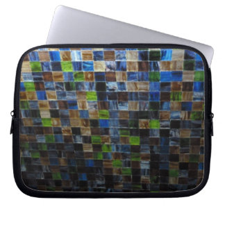 2012-09-09 19.51.12 BLUE GREEN MOSAIC GLASS SQUARE COMPUTER SLEEVE