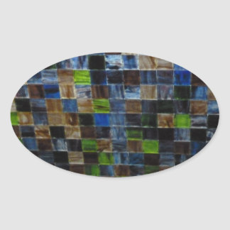 2012-09-09 19.51.12 BLUE GREEN MOSAIC GLASS SQUARE OVAL STICKER
