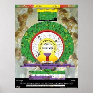2012-2013 poster litúrgico del año