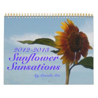 2012 2013 sensaciones del girasol 18 meses calendario