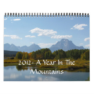 2012: A Year In The Mountains Calendar