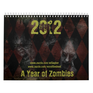 2012 a year of zombies calendar