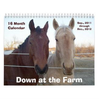 2012 abajo en la granja 16 MESes. Calendario