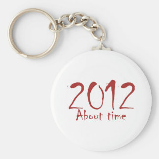 2012 About Time Basic Round Button Keychain