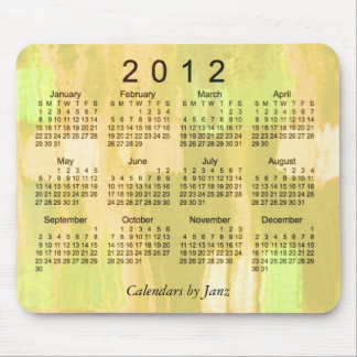 2012 Abstract Calendar Mouse Pad