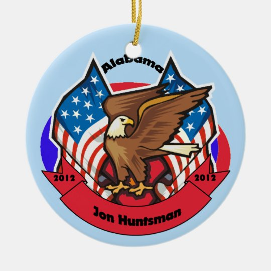 2012 Alabama for Jon Huntsman Ceramic Ornament