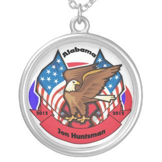 2012 Alabama for Jon Huntsman Round Pendant Necklace