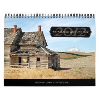 2012 Alto - y - calendario de pared seca