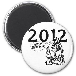 2012 - Año Nuevo maya Imán Redondo 5 Cm