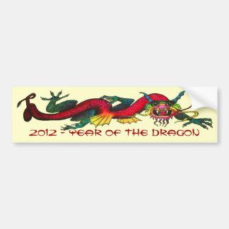 2012 años del dragón pegatina de parachoque