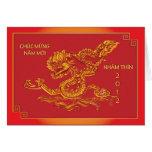 2012 años del dragón de agua, saludo vietnamita felicitaciones