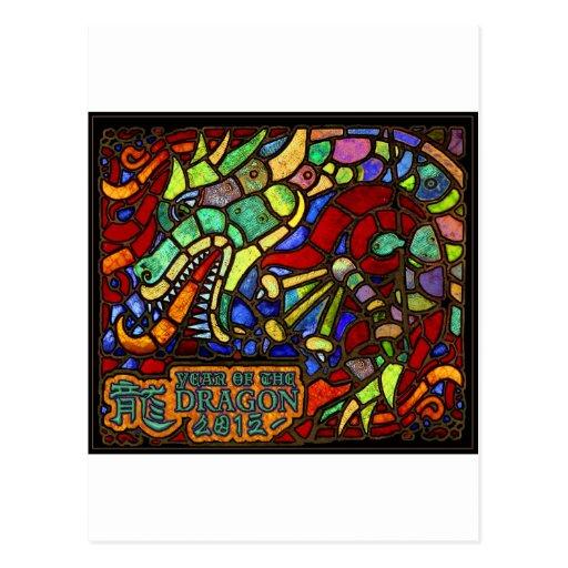 2012 años del dragón tarjeta postal