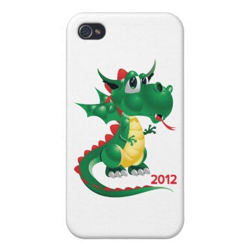2012 Años Nuevos chinos, el año del dragón iPhone 4 Cárcasa