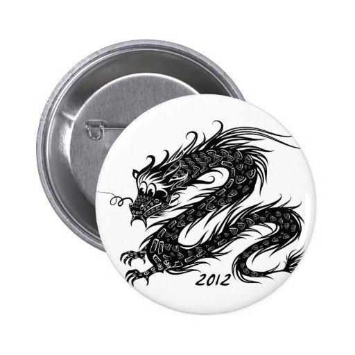 2012 Años Nuevos chinos, el año del dragón Pins