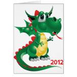 2012 Años Nuevos chinos, el año del dragón Felicitacion